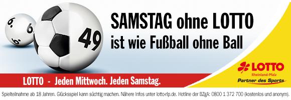 Banner - Samstag ohne Lotto ist wie Fussball ohne Ball